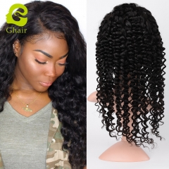 GHAIR Brazilian human hair front lace wig deep wave