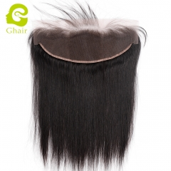GHAIR Brazilian virgin human hair straight 1B# 13*4 lace frontal with baby hair