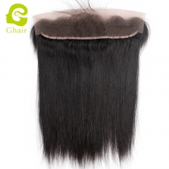 GHAIR Brazilian virgin human hair straight 1B# 13*2 lace frontal with baby hair