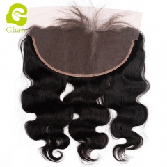 GHAIR 100% virgin human hair body wave 1B# 13*6 lace frontal with baby hair