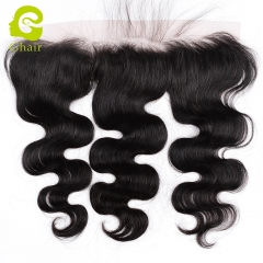 GHAIR 100% virgin human hair body wave 1B# 13*2 lace frontal with baby hair