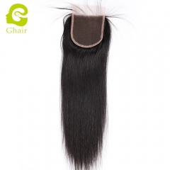 GHAIR Brazilian 100% human hair lace closure straight grade 8A