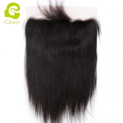 GHAIR 100% virgin human hair straight 1B# 13*6 lace frontal with baby hair