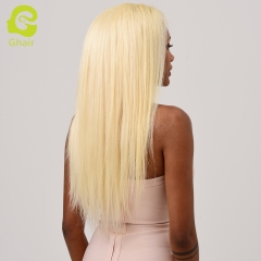 HOT SALE | GHAIR Brazilian virgin human hair straight 613# lace front wig with baby hair glueless for black women