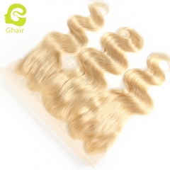 GHAIR 100% virgin human hair body wave 613# 13*4 lace frontal golden blonde