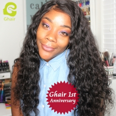 GHAIR 1st Anniversary | Loose deep brazilian virgin hair 3 bundles with 4x4 lace closure pre-plucked
