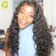 GHAIR Loose deep brazilian virgin hair 3 bundles with 4x4 lace closure pre-plucked