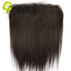 GHAIR Lace frontal PU V-looped Transparent Pre-plucked Natural hairline