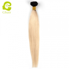 GHAIR Brazilian 4 bundles virgin human hair weave straight bundle 1b/613# blonde color Shedding free