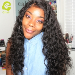 GHAIR Loose deep 100% virgin human hair 3 bundles with 4x4 lace closure pre-plucked