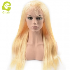 HOT SALE | GHAIR pre-plucked lace front wig straight 613# virgin human hair glueless adjustable elastic band wig with baby hair
