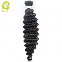 GHAIR Celebrity hair collection 1 bundle deep wave cuticle aligned single donor hair