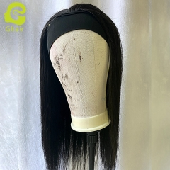 "9A+ Headband wig 180% density 1B# straight wave 14""-24"" just wear and go wig"