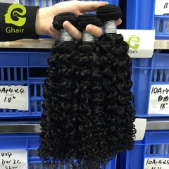 9A 3 bundles 100% virgin human hair weave deep curly 1B#
