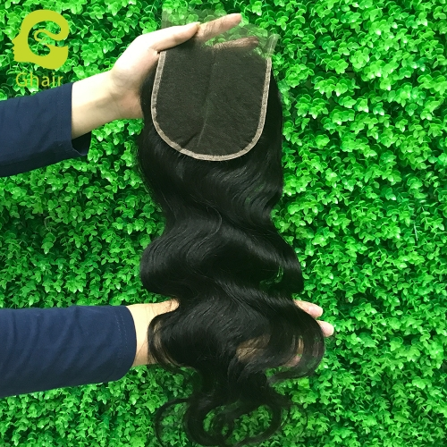 9A+ 5x5 HD lace closure 1B# body wave with pre-plucked baby hair