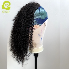 "9A+ Headband wig 180% density 1B# Kinky curly 14""-24"" just wear and go wig"