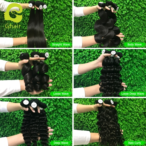 "10A+ Bundles, Length 10""—28"", Color 1B#, 6 Textures"