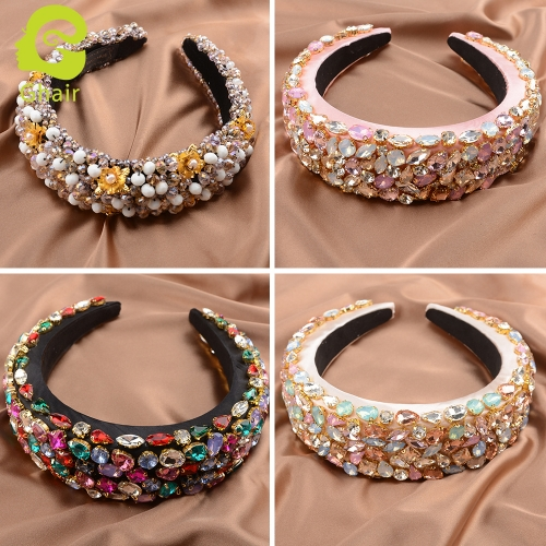 Ghair Wholesale Fashion 160*160*35m Hair Band Accessories Blink Blink Crystal Hair Queen Series Headband For Girls