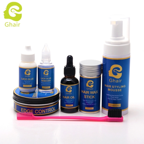 Ghair 7-Pieces Wig Glue Essential Oil Set -Professional haircare wig kit Hair care for salon hair stylists Custom label