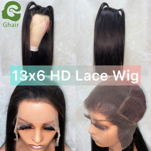 9A+ Invisible Super thin 13X6 HD Lace wig pre-plucked with baby hair