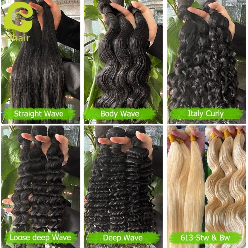 "10A Bundles, Length 10""—28"", Color 1B#, 4 Textures"