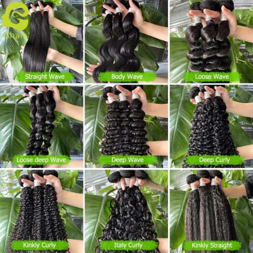 "9A Bundles, Length 10""—30"", Color 1B#, 9 Different Textures"
